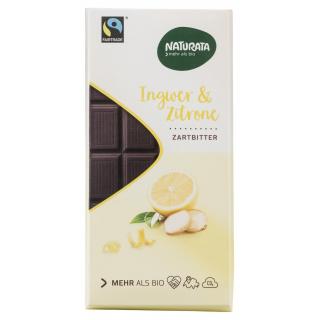 Chocolat Halbbitter Ingwer-Zitrone
