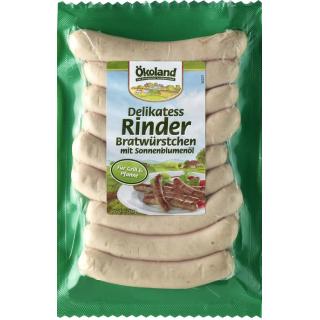 Delikatess-Rinderbratwürstchen BIOLAND