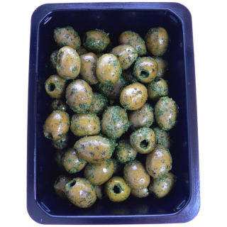 Grüne Oliven ohne Stein